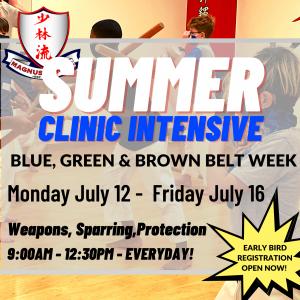 Summer Green Brown Clinic Intensive
