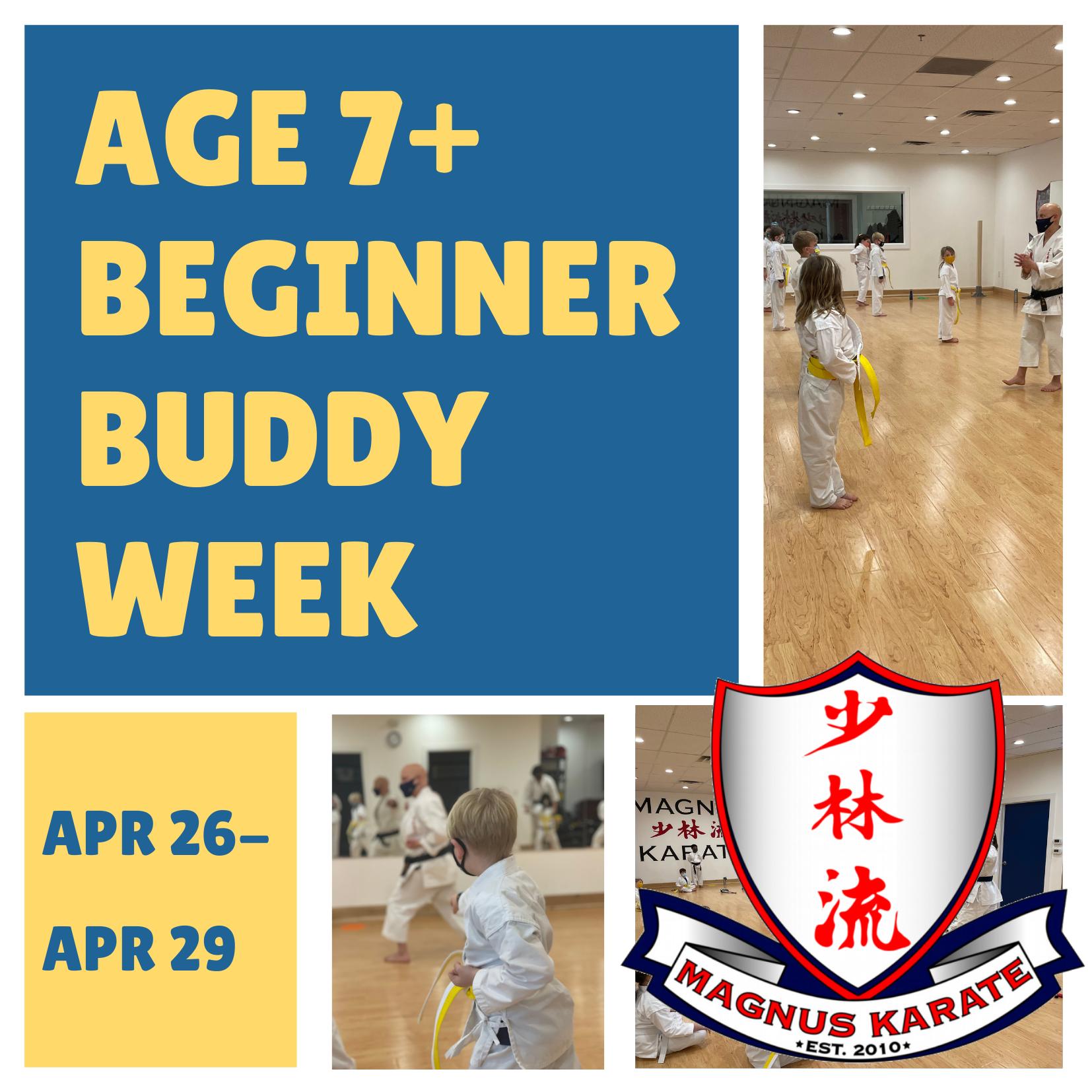April - Beginner Buddy Week