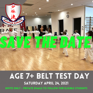 April Belt Test Day