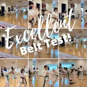 April Belt Test Day Thank you Post
