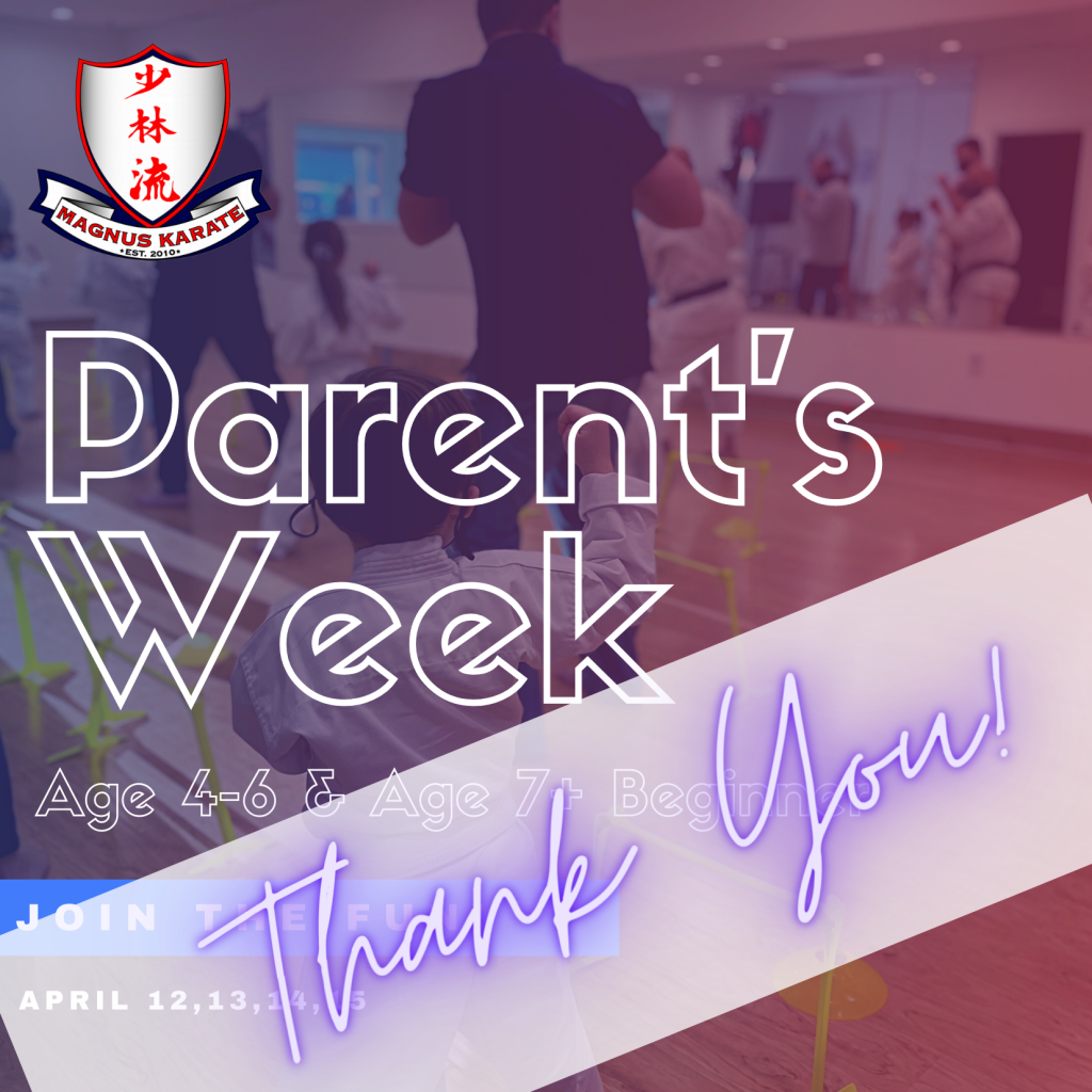 April Parents Week Thank You