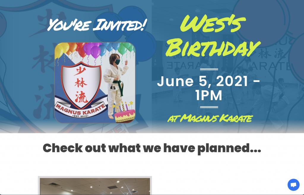 Birthday Invite Screenshot