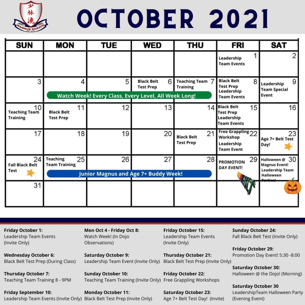 Events October 2021