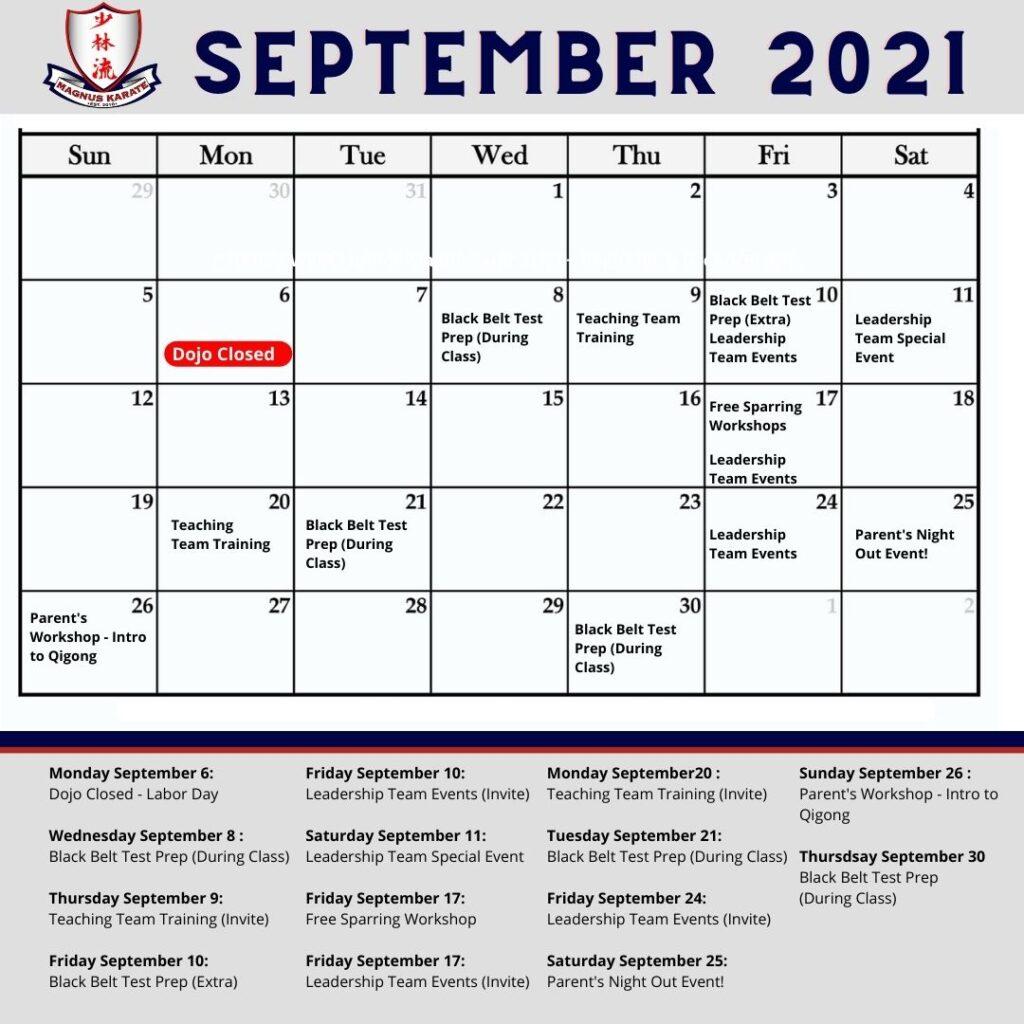 Events September 2021