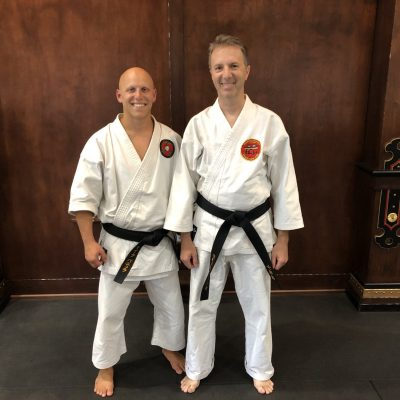Sensei pictured with long time student and recent recipient of The D'Angelo Award - John Patriarca